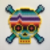 Heartbeat Skull / 14x14 cm / 2018